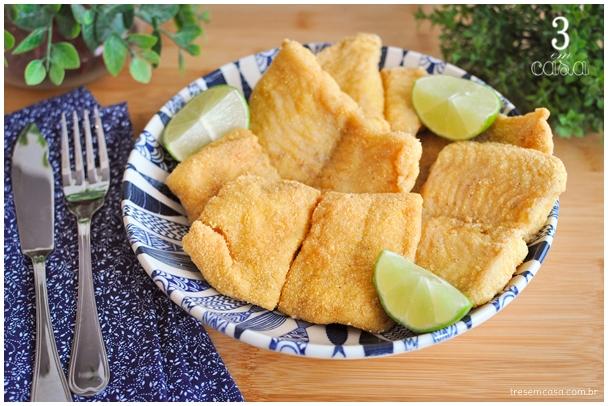 receita de peixe frito no fubá