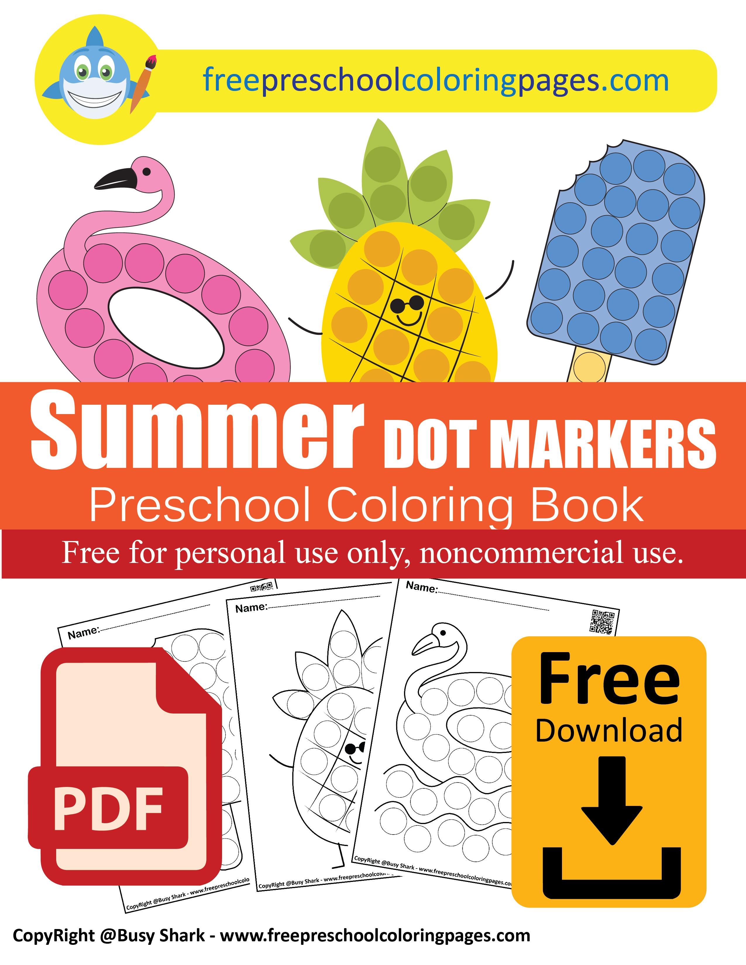 Summer Dot Markers Activity