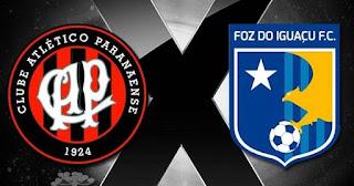 Athletico x Foz do Iguaçu  Hoje, ás 18:00 - 23/03/2019