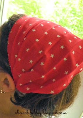 Elastic Headband/Bandana Tutorial-abeeautifulday.blogspot.com