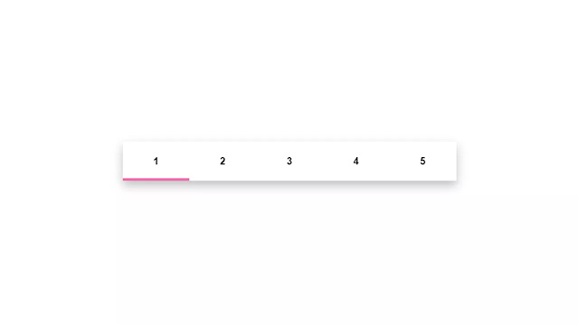CSS Line Pagination with Hover
