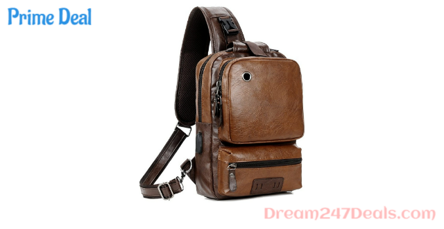 50% Off Men's vintage PU leather casual backpack