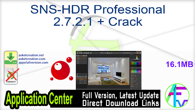 SNS-HDR Professional 2.7.2.1 + Crack