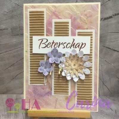 Geribbelde drieluik met bloemen - vmcdesigns.nl