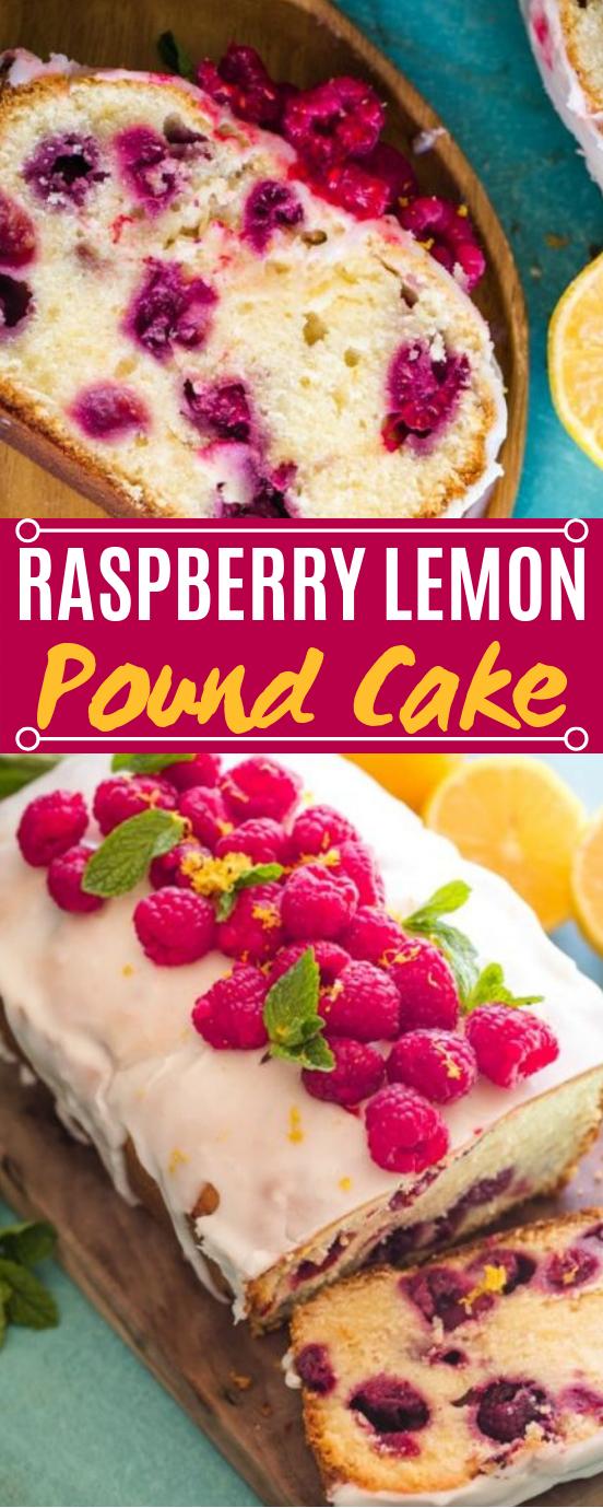 Raspberry Lemon Pound Cake #desserts #cake