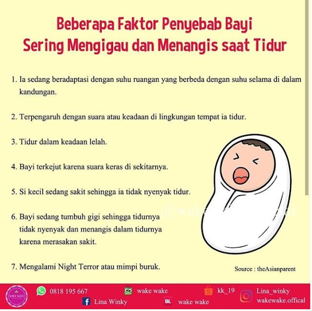 Kenapa Bayi Menangis dan Mengigau Saat Tidur