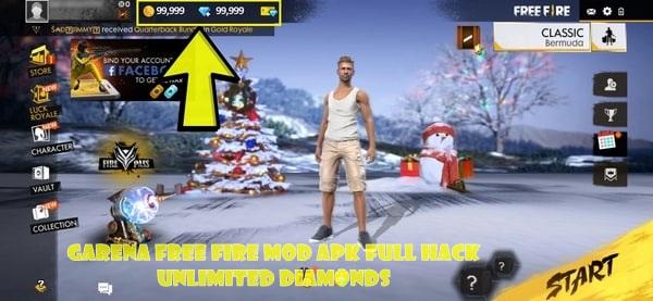 Garena Free Fire Mod Apk Full Hack Unlimited Diamonds