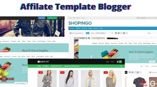 [Best 6] Free Blogger Affiliate Template For Amazon Affiliate.