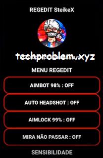 APK Regedit SteikeX Free Fire Aimbot Auto Headshot Aimlock Sensibilidade Antiban