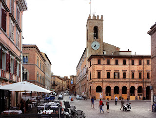 The main square in Osimo, the town in Le Marche where Saint Joseph died in 1663