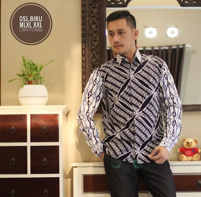 baju kemeja batik kombinasi pria model terbaru lengan panjang, kemeja batik tulis pria lengan panjang, kemeja batik lengan panjang cowok
