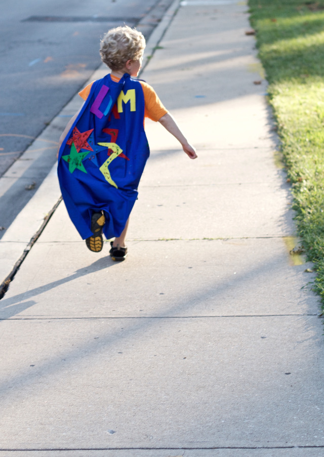 toddler diy super hero cape kit