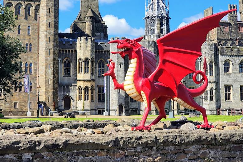 城堡裡的威爾斯龍 (welsh dragon)