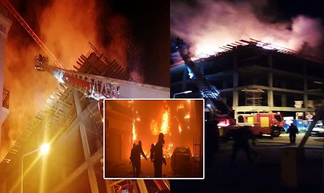 توتس العاصمة إندلاع حريق هائل بمبنى في جونجوريس شارع الهادي نويرة و الحماية المدنية تتدخل