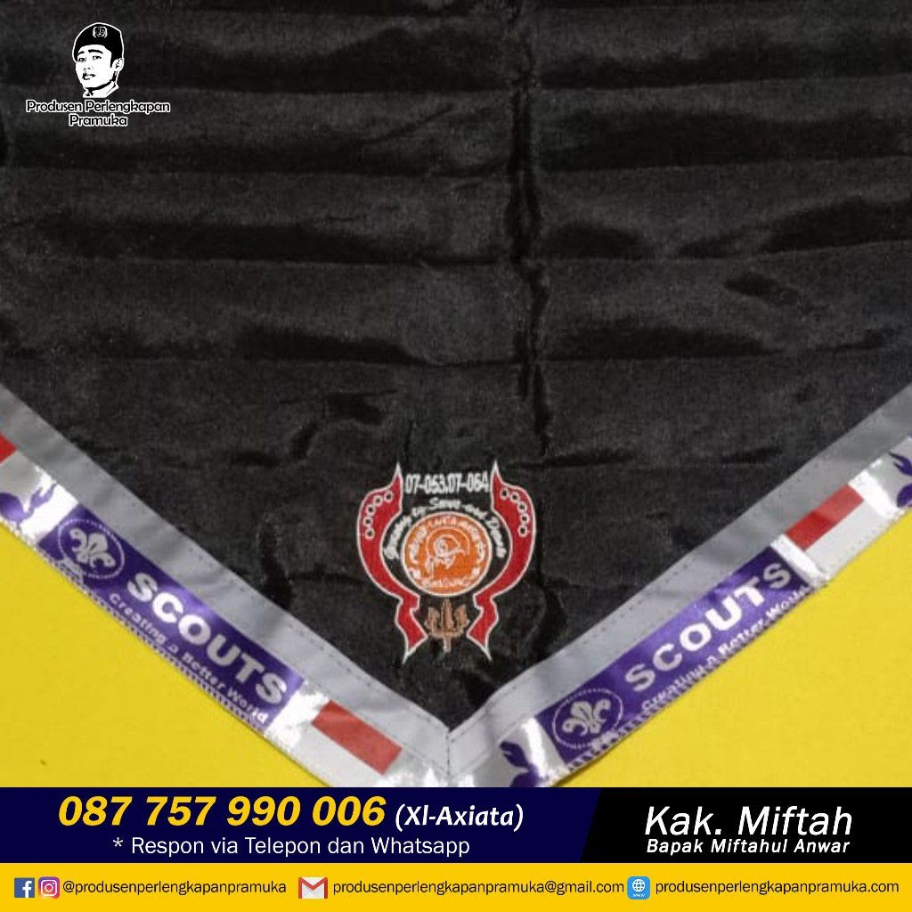 Jual Scarf Pramuka Gorontalo, Makassar, Palopo, Parepare, Baubau, Kendari,