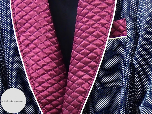Men's quilted shawl collar dressing gown vintage
