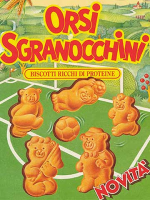 La confezione dei biscotti Orsi Sgranocchini della Mulino Bianco