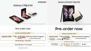 HP Lipat Samsung 5 Jutaan Flip3 dan Fold3 5G