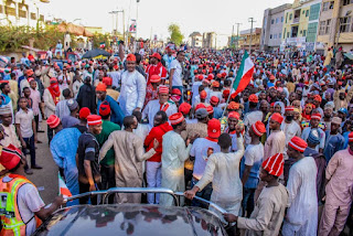 Pictures from PDP Presidential Campaign Rally in Kano State.