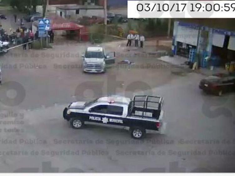Ejecutan a 3; cámaras de Escudo graban homicidio
