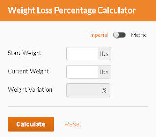 Weight loss calculator