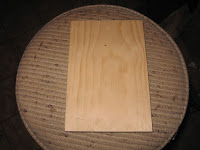 8 inch piece of 1X6 pine for our base