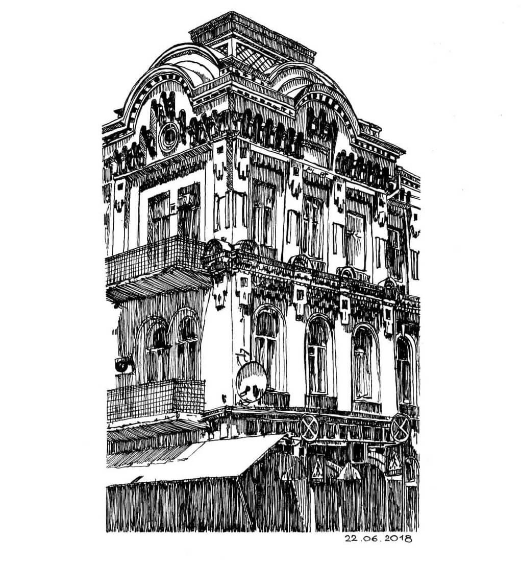 11-Building-full-of-Details-Natali-M-Drawings-of-Buildings-with-Architectural-Details-www-designstack-co