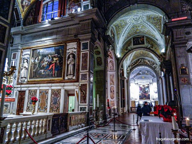 Decoração interna da Igreja de Ognisanti (Todos os Santos), Florença