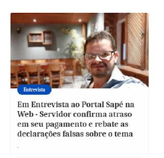 Denuncia de servidor da prefeitura de Sapé de atraso de salário confirma fala de Flavinho Feliciano a imprensa