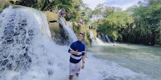 Pesona Air Terjun di Pemandian Alam Kampung Gunung Perdagangan