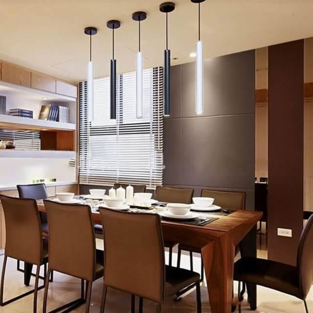 estilo minimalista-lámparas colgantes para cocina