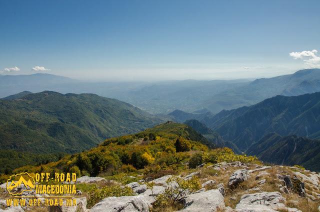 View towards Loutraki (Pozar) area, from Sokol Peak, Nidze Mountain, Macedonia