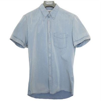 acne chambray denim slim fit shirt