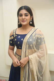 Niveda Thomas in Lovely Blue Cold Shoulder Ghagra Choli Transparent Chunni ~ Exclusive Celebrities Galleries 020