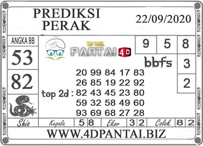 PREDIKSI TOGEL PERAK PANTAI4D 22 SEPTEMBER 2020