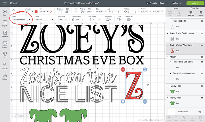 Cricut Design Space Fonts