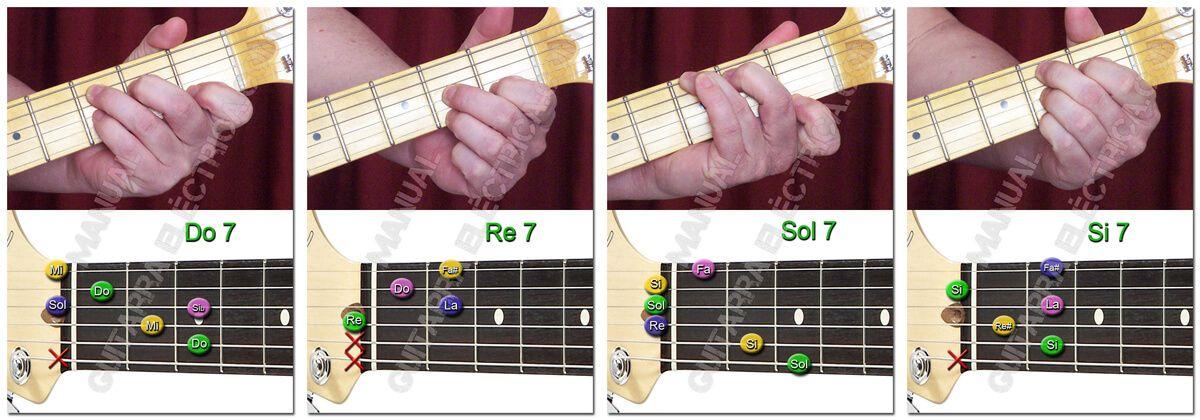 Principales Acordes de Séptima (Guitarra)
