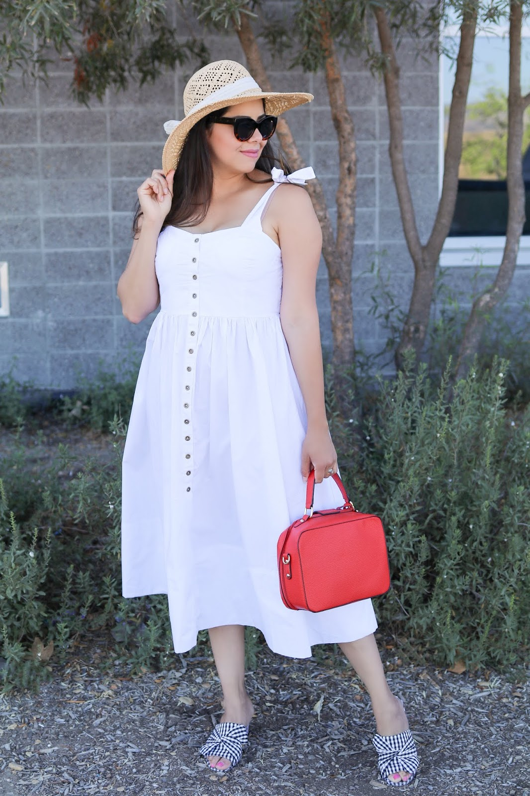 summertime white dress, latina fashion blogger