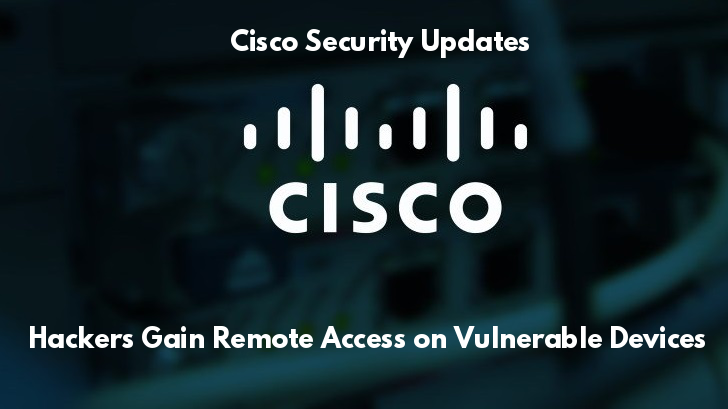 Cisco Security Updates – Vulnerabilities in Cisco Products Let Hackers Gain Unauthorized Remote Access