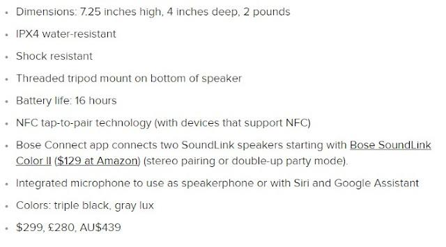 Bose SoundLink Revolve+ review Key specs: