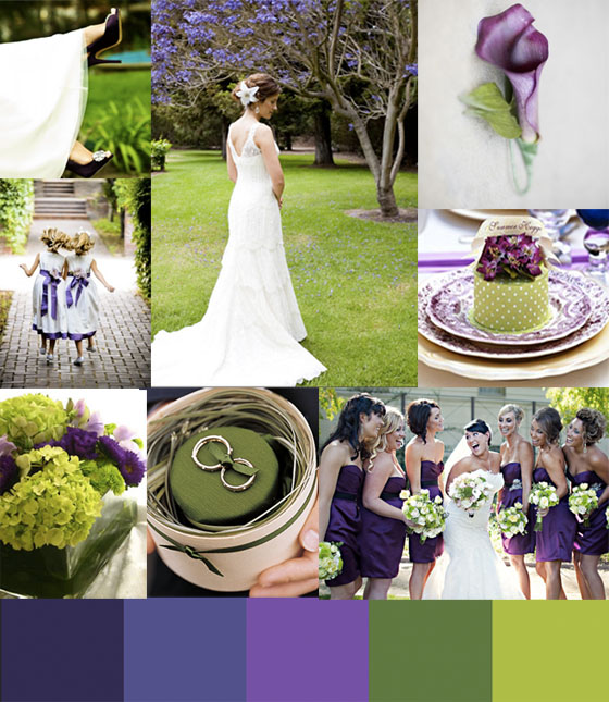 Turning Back Time Photography: Fresh And Funky Wedding Colors