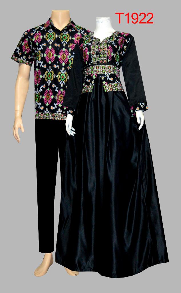 Baju Batik Pasangan Model Gamis Prada T1922