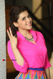 Actress Mannar Chopra in Pink Top and Blue Skirt at Rogue movie Interview  0026.JPG