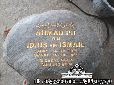 Nisan Batu Kali, Harga Nisan Batu Alam, Jual Model Nisan Batu Kali