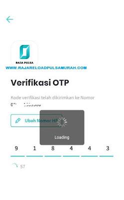 Verifikasi OTP Aplikasi Raja Pulsa Mobile Topup