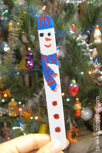 Закладка для книг снеговик snowman bookmark