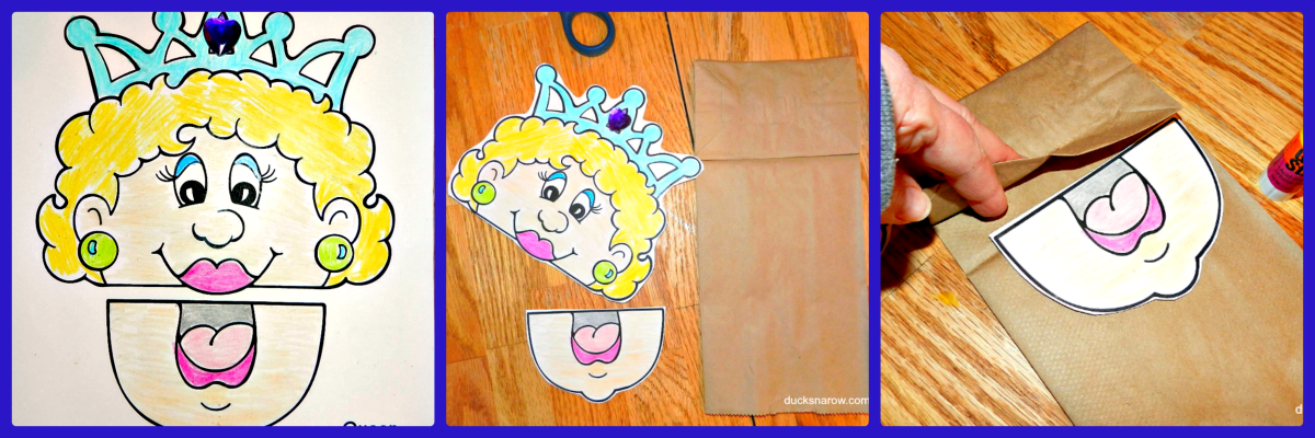 letter q is for queen preschool lesson and paper bag