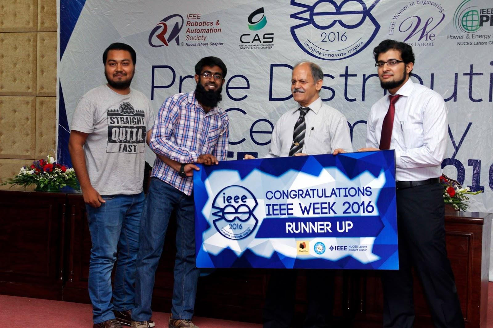 Runners-up of IQ Quiz in IEEE Week'16