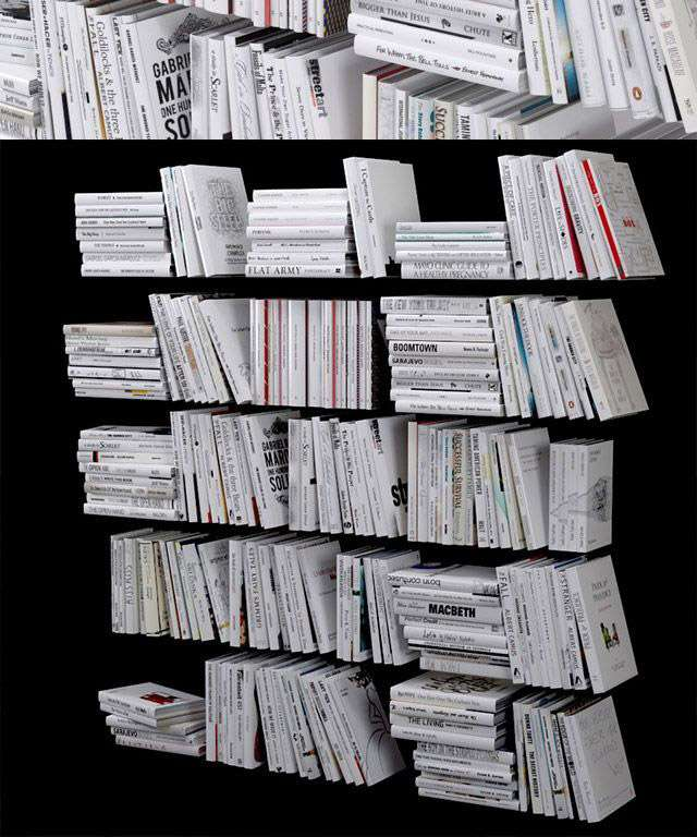 200 white books 3d models download free