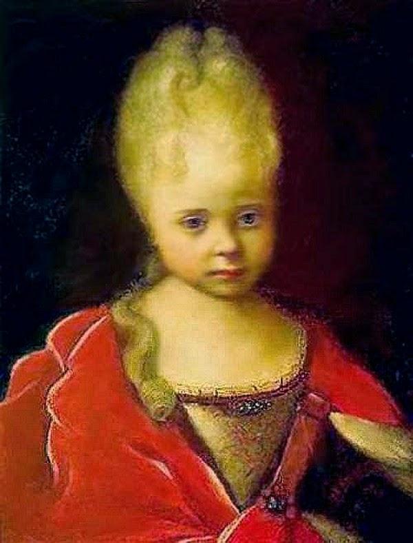 Елизавета Петровна в детстве
